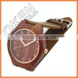 New arrival Wooden watch with leather band
