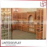 Durable and fashhionable wall mounted wine cabinet