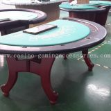 LANGE H Wood Half Round Blackjack Table with Dealer Position