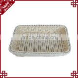 Wholesales beautiful plastic hand basket for storage hotel toiletries clean tool