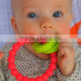 Colorful Silicone Teething Bracelet&&Silicone Baby Chewing Bracelet&Silicone Baby Bangle