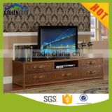 2016 New design European vintage chesterfeild style top grain leather tv stand/tv cabinet and home furniture