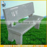 Light grey bench with back for garden or cemetery decoration