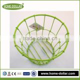 Alibaba trade assurance wrought iron wire frame plant pot/green handmade flower basket