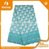 Factory Price Custom Design Guipure Embroidery Mint Green Lace Fabric