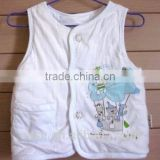Toddlers soft cotton cardigan vest