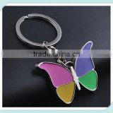 Butterfly Keychains Novelty Metal Keyrings Gift