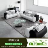 Modern design black and white PU sofa set