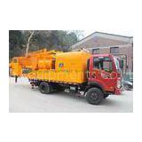 300L Oil Tank Cement Pumping Machine , Truck Mounted Concrete Pump With Batcher