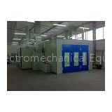 Blue Open Face Industrial Paint Spray Booth High Efficiency Combined Mixing Room
