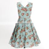 Wholesale dropship in stock women dress party prom bridal floral retro vintage style 60s vetements kleider