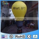 Yellow Giant Inflatable Light Bulb Air Dancer For Advertising