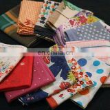Luxury graceful 100% Cotton high-quality ladies' customized Handkerchiefs