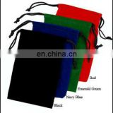 jewellery felt drawstring bag promotional suede drawstring pouch printed logo on the bag