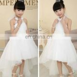 White colour Halter Style Party Dress