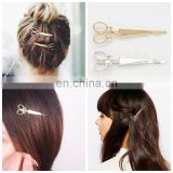 New Fashion Elegant Silver/Gold Scissor Shape Hair Clip Accessories For Women