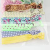 "5/8"" Custom Print Elastic Ribbon for kids Hair Ties wholesale elastic hair ties"