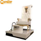 Best selling luxury beauty salon high back king throne pedicure chair for foot spa