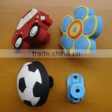 Hot sale cute plastic pvc cartoon cabinet handle and knob
