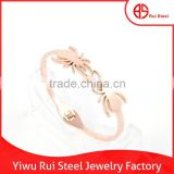 fancy rose gold two spider charms bangles latest designs models