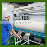 Cross lapping 40% viscose 60% polyester spunlace nonwoven fabric for wet tissue/facial masks/cosmetic pads