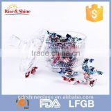 Wholesale sale price Crystal glass sugar bowl/ designed cheap crystal fruit bowl/glass fruit bowl