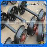 Customizable Strength Loading Cast Iron Or Cast Steel Mine Car Wheel Set/Hollow And Solid Mining Car Wheels