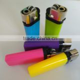 colorful mini plastic flint stone cigarette lighter with butane gas FH-009
