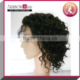 alibaba in spanish express human hair kinky curly full lace wig, full lace wigs for black women
