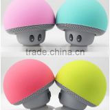 cartoon mushroom head sucker mini portable bluetooth speaker phone tablet bracket outdoor small acoustics For samsung iphone HTC