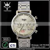 Alibaba China factory oem chronograph watch men in wristwatches with own logo stainless steel band