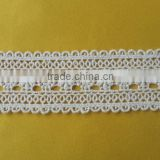 High quality off white cotton lace trimming for dress H1526                                                                         Quality Choice
