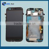 china alibaba replacement LCD screen & digitizer assembly with frame for HTC One M8 black
