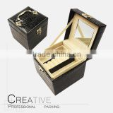 Hot sale folding jewelry storage box PU leather jewelry box                                                                         Quality Choice