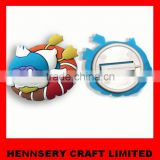 Soft pvc customized embossed logo blank button badge wholesale