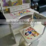 modern kids wood study table and chair/wooden kids learning table