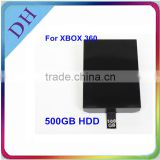 [For Slim Box!!] High quality 2.5'' hdd for xbox360 game console/500gb harddisk with hdd enclosure for video gamers