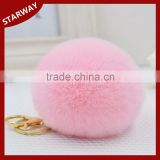 Best selling Car Handbag Charm fluffy fur pom poms keychain/                                                                         Quality Choice