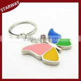New Arrival enamel metal butterfly keychain wholesale/