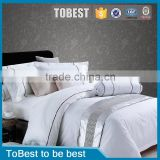 ToBest Wholesale Hotel Bedding 100%cotton bedding sets white luxury hotel bed linen / bed sheets quilt cover