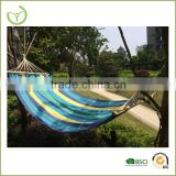 Cheap yarn dyed portable cotton camping hammock chair with pillow/2015 new product/hammock stand