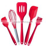 Hot selling 5 Pcs/set Baking&Pastry Tools Cooking Tools kitchen cooking utensil set Silicone Kitchen Utensil set