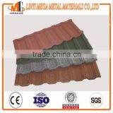 hot sale color stone coated steel roofing tiles china supplier terracotta color stone coated metal roofing tiles