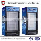 display cooler, fridge,freezer,inspection services in China,pre-shipment inspection,during production inspection,factroy audit