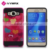 China wholesale import cover case hybrid 2in 1 pc printing phone accessories for samsung G550 ON5                                                                                                         Supplier's Choice