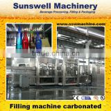 Automatic 3 in 1 rinser /filler/capper glass bottled soft drink filler /filling machinery