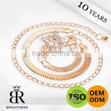 Diamond flower mild steel ornament chain brass link chains Brightness F1-80027