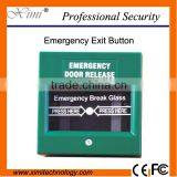 Door release glass break alarm button break glass fire emergency exit door release button for access control system E01