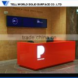 Artificial Stone Material Office Reception Desks/Drywall Stilts