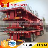 Hot sale CIMC 3 axle 40ft flatbed container semi trailer Kenya                                                                         Quality Choice